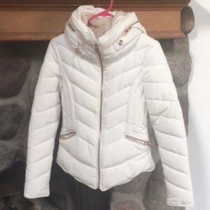 White puffy jacket